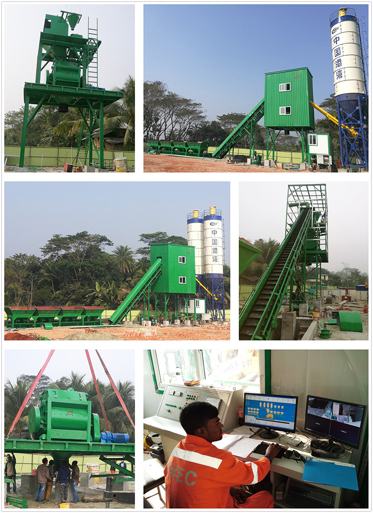 60m3/h Ready mix Concrete Mixing Plant